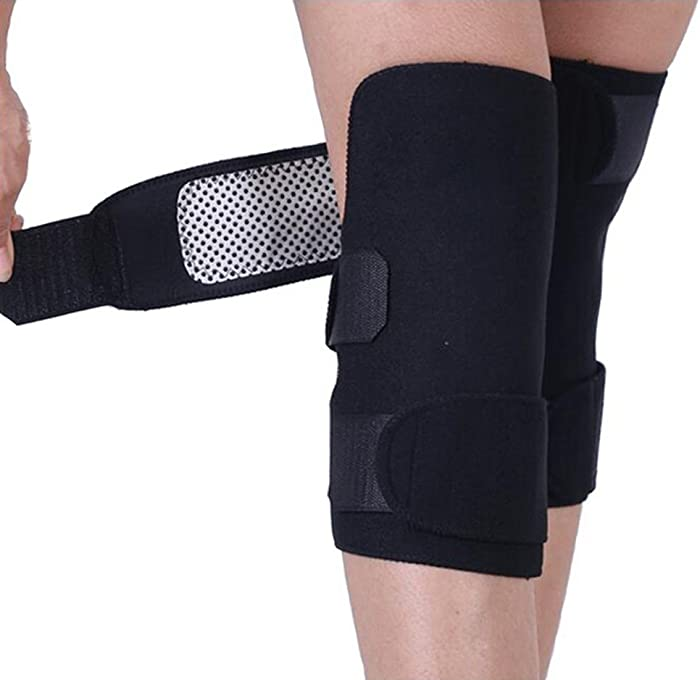 1 Pair Unisex Upgraded Version Adjustable Self-Heating Knee Pads Magnetic Tourmaline Therapy Knee Support Brace Protector Arthritis Pain Relief Jiont Health Care Expert