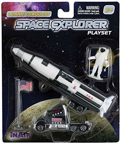 WowToyz Saturn V Rocket (4 Piece Playset) (Saturn Rocket Moon V)