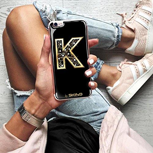 Skino™ Custodia Skin 3D Anti-Gravità Case Cover Resina Gel per iPhone 5 / 5s / 5 SE / 6/6 Plus / 6s / 6s Plus / 7/7 Plus Anti-Scratch Protezione 100% UV Antiscivolo Letter Gold Lettera Doro K (iPhone