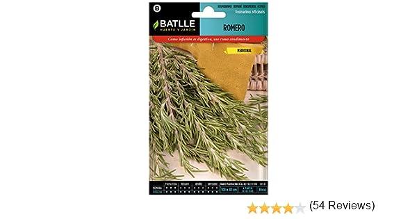 Semillas Aromáticas - Romero - Batlle: Amazon.es: Jardín