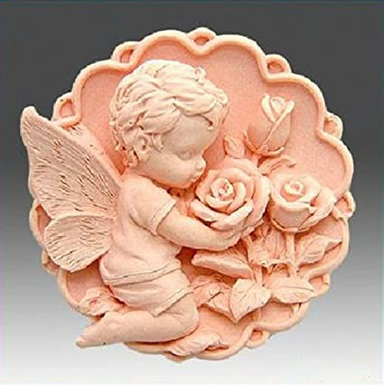 Amarillo Angel S208 Manualidades DIY Craft moldes con forma de jabón de silicona jabón Moldes hecho