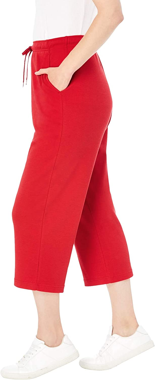 Woman Within Womens Plus Size Sport Knit Capri Pant