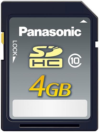 Panasonic 4GB SDHC Silver - Tarjeta de Memoria (4 GB, Secure Digital High-Capacity (SDHC), Resistente a Golpes, Resistente al Agua, -25-85 °C)