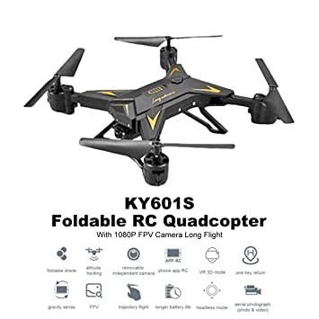 MXECO KY601S Selfie Foldable RC FPV Drone Quadcopter with HD 1080P ...