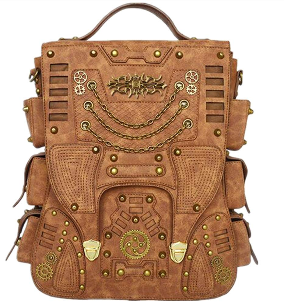 WEI ZHE Women's Fashion Europe and America Steampunk Outdoor Travel Backpack