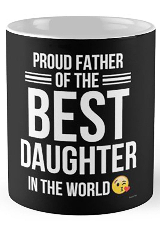 artsonia Proud父の娘が最適in the World – Gift for Dadから娘 – 父ギフト B07DRQ28ZG