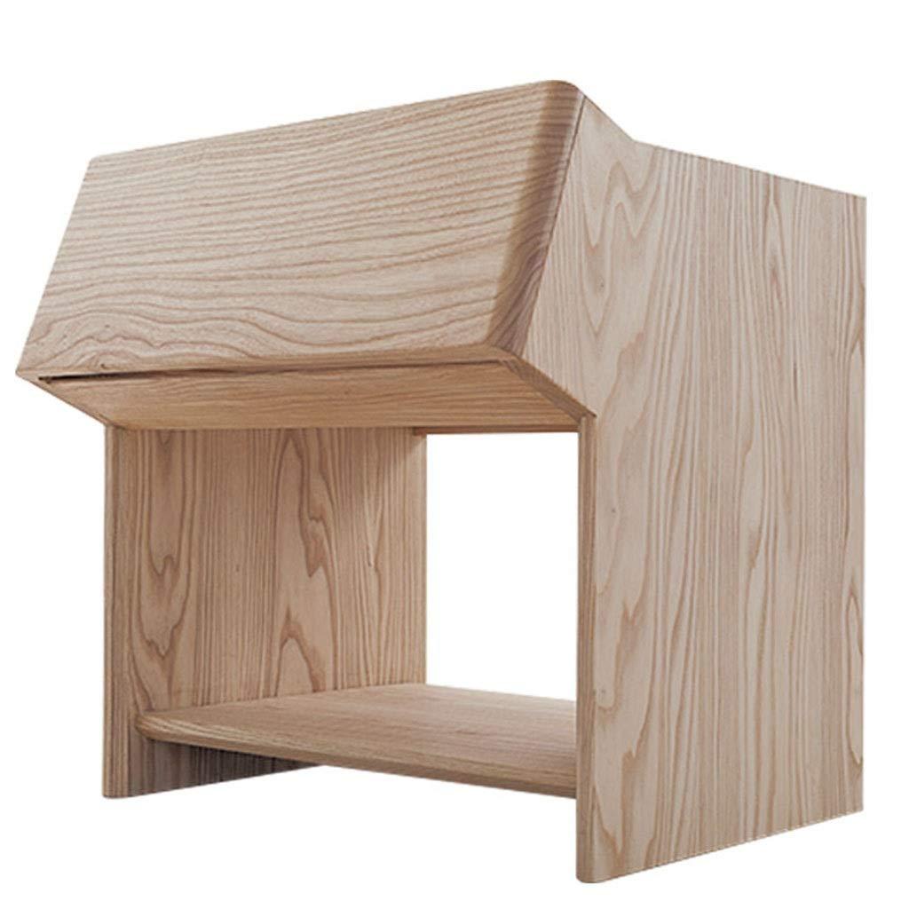 木製書棚棚、キューブ収納ユニットキャビネット自立2段引き出し収納付きホーム寝室オフィスドキュメントラック (色 : 白) B07NVVBT89 白