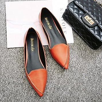 Xue Qiqi Tipi - Calzado plano para niña con boca baja, para ayudar a zapatos casuales que zapatillas temporadas minimalistas para mujer: Amazon.es: Deportes ...