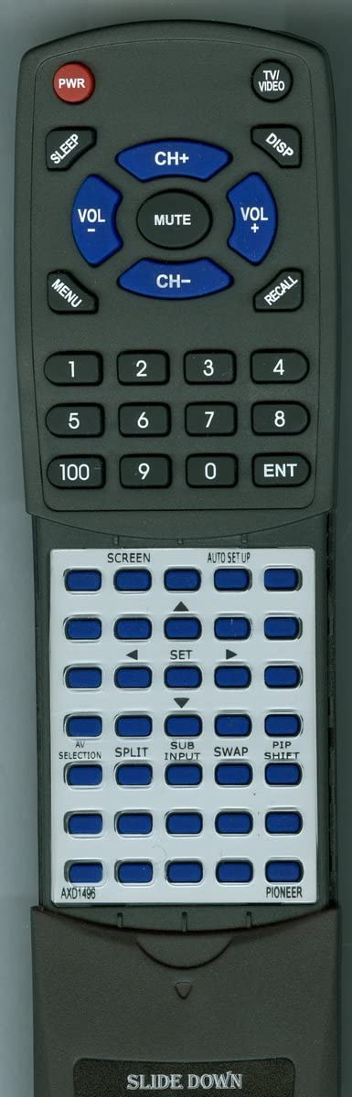 PDP5004C Replacement Remote Control for Pioneer AXD1496 PRO810HD PDP4312HD PDP4304 PDP4312 PRO1010HD PDP5004