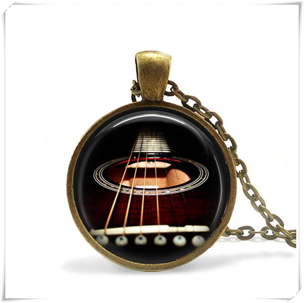 Guitarist Necklace Rock and Roll Music Necklace guitarist jewelry magnet hu XJ21