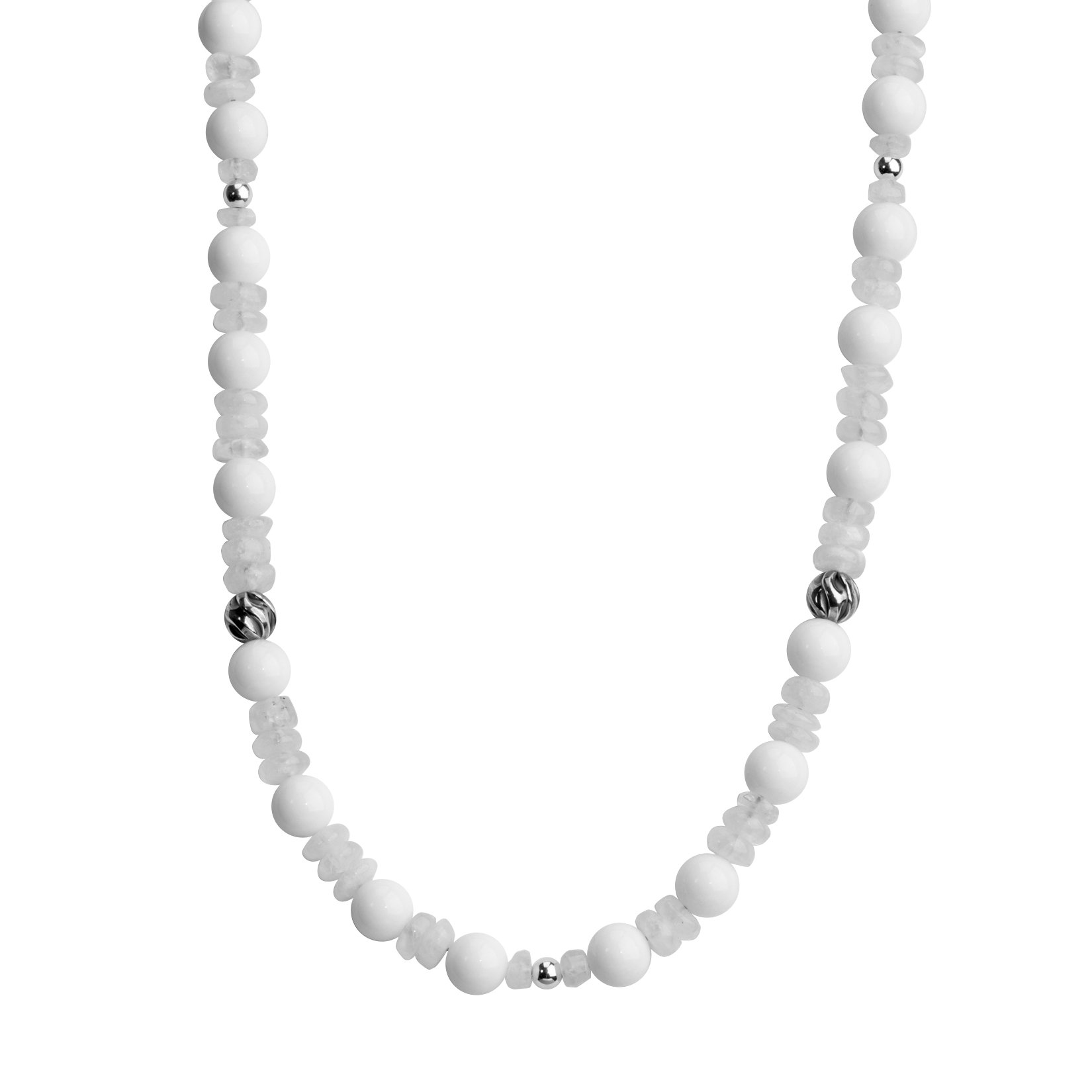 Carolyn Pollack Sterling Silver White Beaded Necklace, 21''