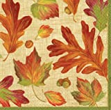 Thanksgiving Decorations Thanksgiving Dinner Paper Thanksgiving Napkins Leaf Dinner Size Pk 40