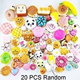 Toyofmine 20 Pcs Mixed Lovely Mini Soft Squishy Charms Straps for Phone Bags Home Decoration Gift