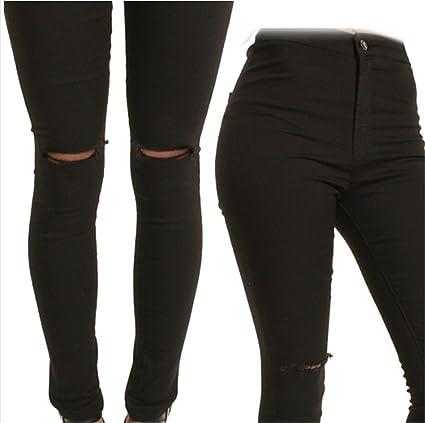 Amazon.com: Interesting Women High Waist Skinny Jeans Slim ...