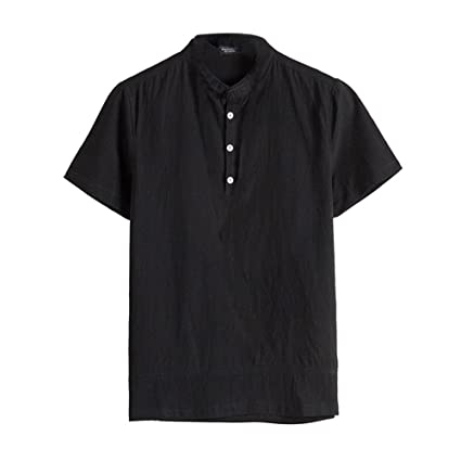 Hombre camiseta T-shirt manga corta,Sonnena ❤ Camisa clásica con botones florales