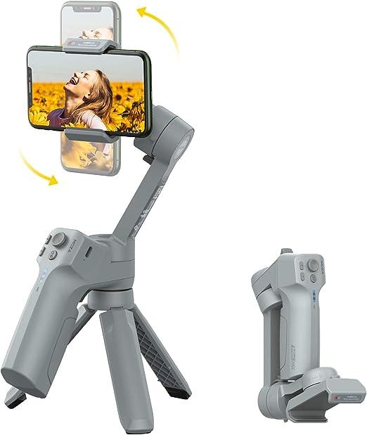 control nativo del tel/éfono Moza Mini MX Estabilizador Gimbal para smartphone de 3 ejes grabaci/ón de v/ídeo en tiempo real