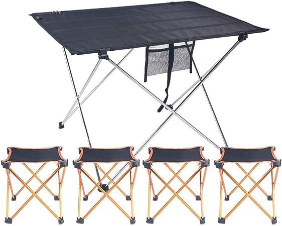 Tavolini Da Campeggio Pieghevoli Con Sedie.A Qnice Tavolo Pieghevole Leggero Facile Da Installare Tavolo Da
