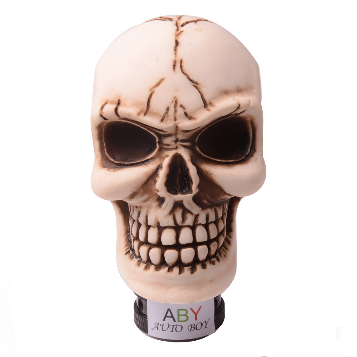 ABy Skull Head Gear Stick Shift Shifter Knob Lever Cover Universal Fit For Most Manual transmission vehicles(Silver) AutoBoy