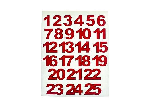 Miniblings Zahlen Adventskalenderzahlen Rot 24 25