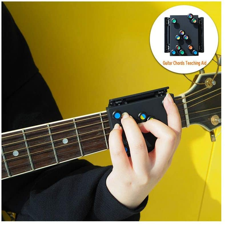 Ayuda para guitarra acorde, nuevo sistema de aprendizaje de guitarra, con 21 acordes, color negro, tamaño: 6 × 7 × 9 cm: Amazon.es: Instrumentos musicales