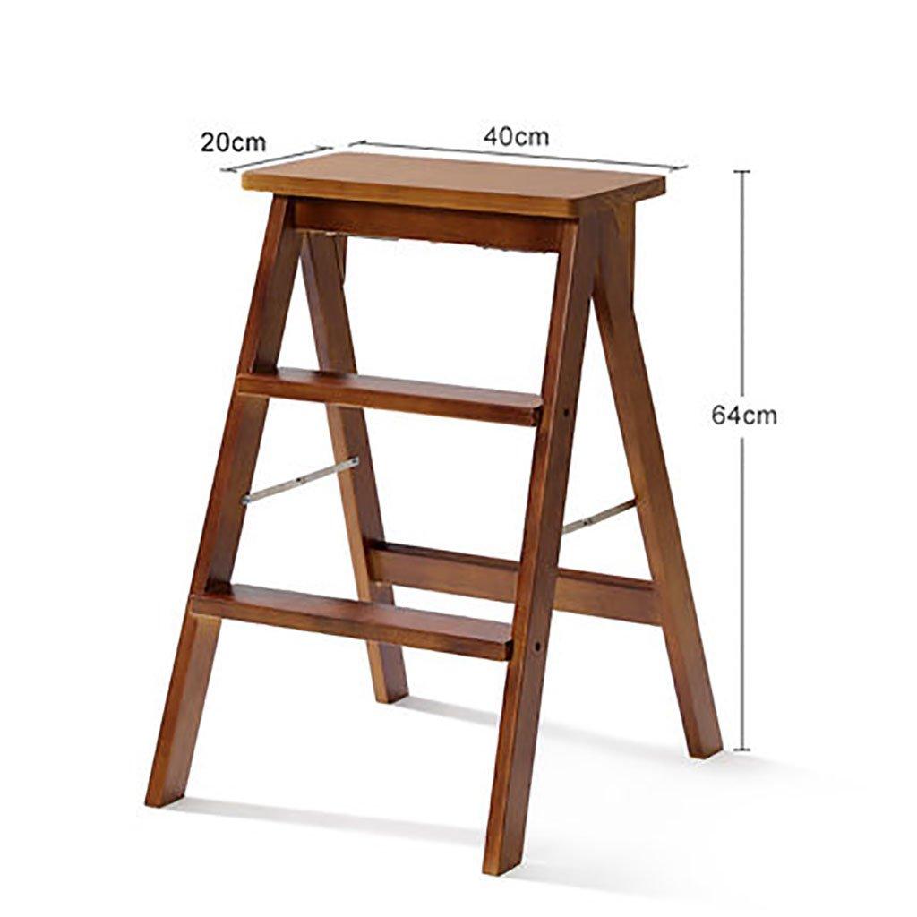 ステップスツールソリッドウッド家庭用はしご折りたたみラダーシェルフ木製はしごラダー多機能屋内家庭用小さなはしごを昇る (色 : C) B07FNCKTP2 C C