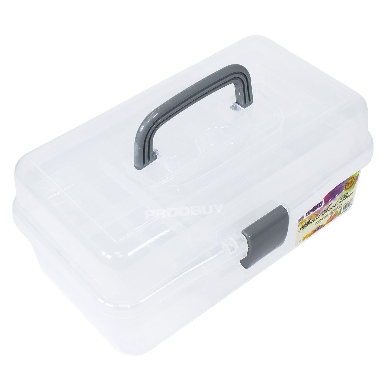 Artist Tool box di plastica trasparente valigetta portaoggetti Art matita spazzola scuola ProdBuy Y0650062