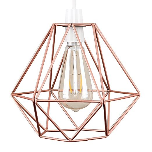Retro style copper metal basket cage ceiling pendant light shade retro style copper metal basket cage ceiling pendant light shade mozeypictures Image collections