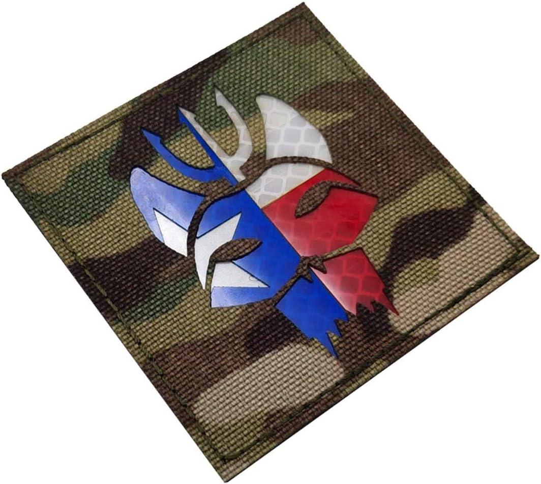 mochilas chaleco Seal Team Trident bolsas para gorras Parche de tela con bordado infrarrojo reflectante por infrarrojos uniformes 2.95 x 2.95 pulgadas c