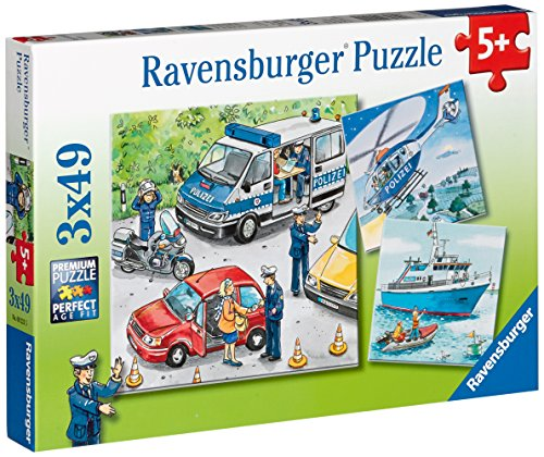 Price comparison product image Ravensburger Police in Action Jigsaw Puzzle (3 x 49 Piece)