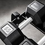 REP FITNESS Rubber Hex Dumbbell Set with