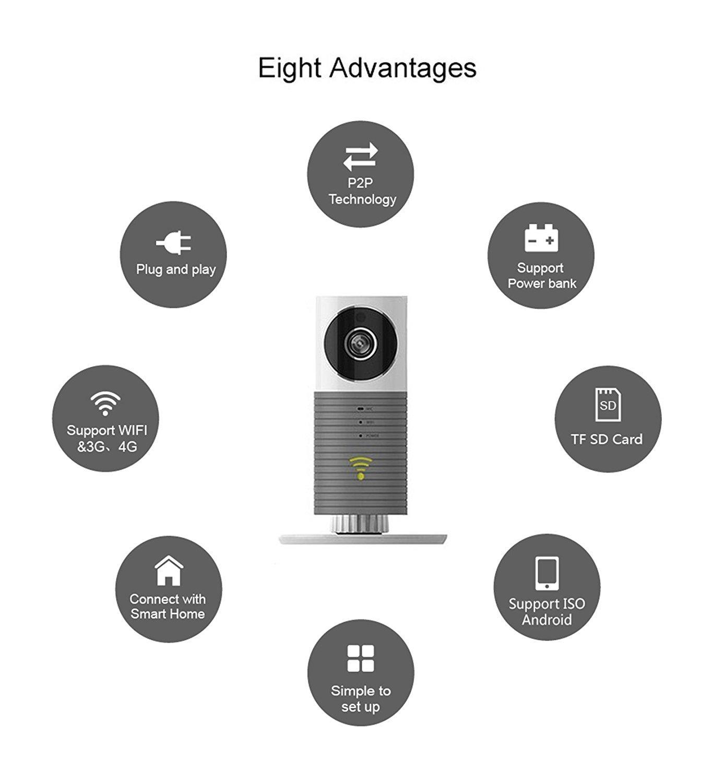 Amazon com : 3T Cleverdog Indoor Mini WiFi Network Camera IP