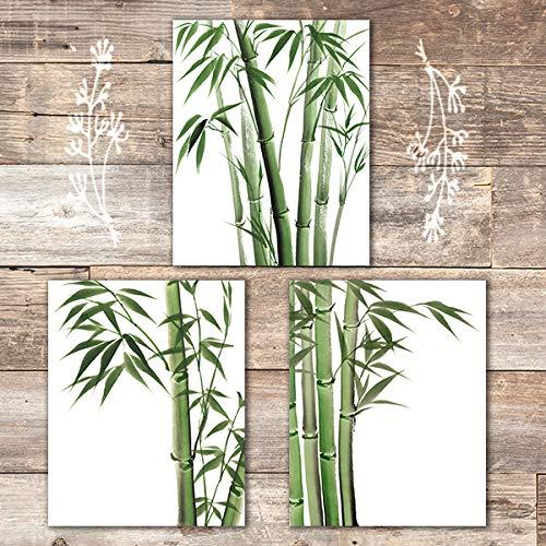 Bamboo Art Prints (Set of 3) - Unframed - 8x10s