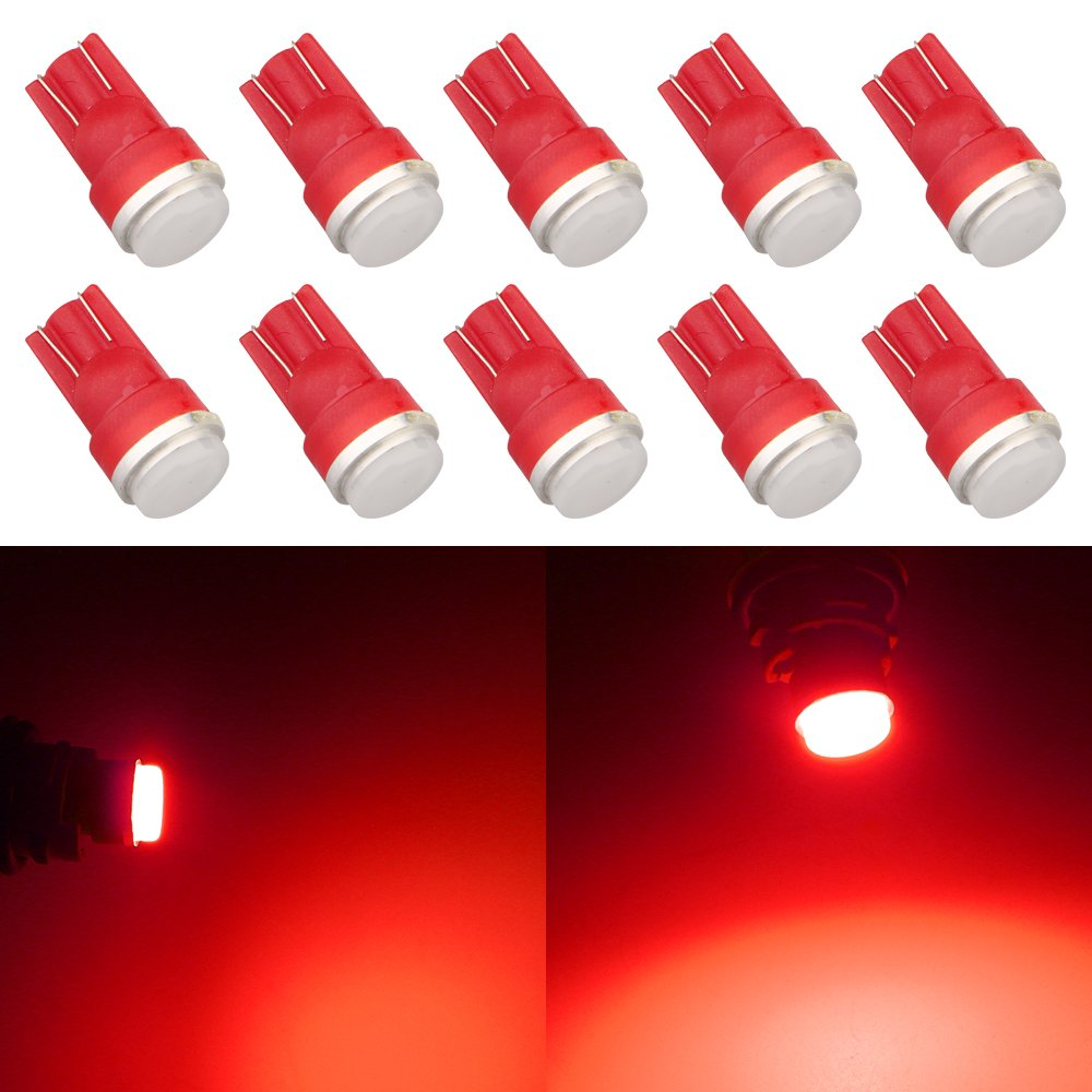 Grandview 10pcs 80 Lumens T10 194 192 175 168 2825 W5W 5630 2SMD Car LED Side Marker Center High Mount Stop Light Bulb Door Courtesy Light Bulbs Amber