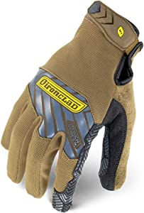 Ironclad Command Grip Work Gloves; Touch Screen Gloves Conductive Palm & Fingers, Extreme Grip, Durable, Performance Fit, Machine Washable, Sized S, M, L, XL, XXL (1 Pair)