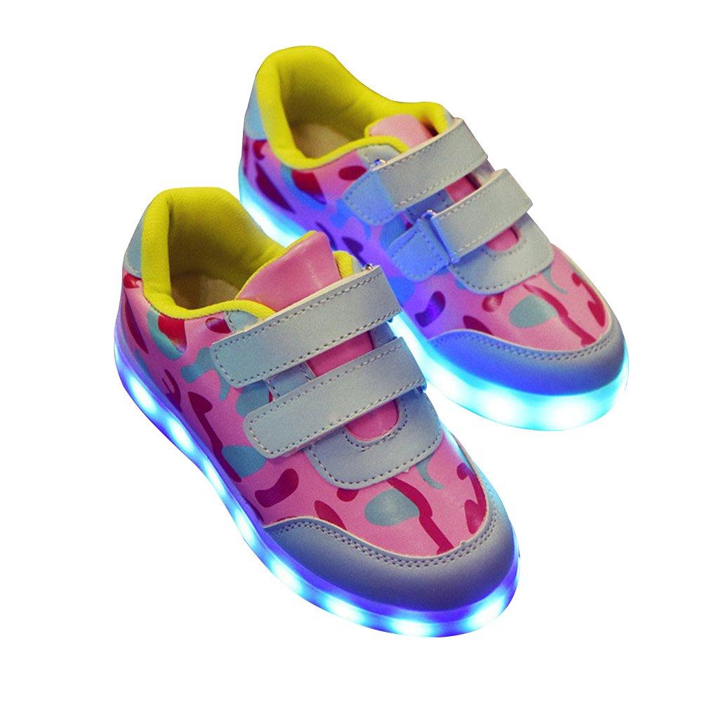BININBOX Children Boys Girls LED Light USB Charging Sneakers Led Light Up Shoes