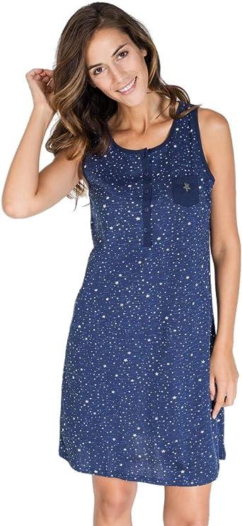 MASSANA -Camisola Mujer de algodón L197216 Estrellas. (l): Amazon ...