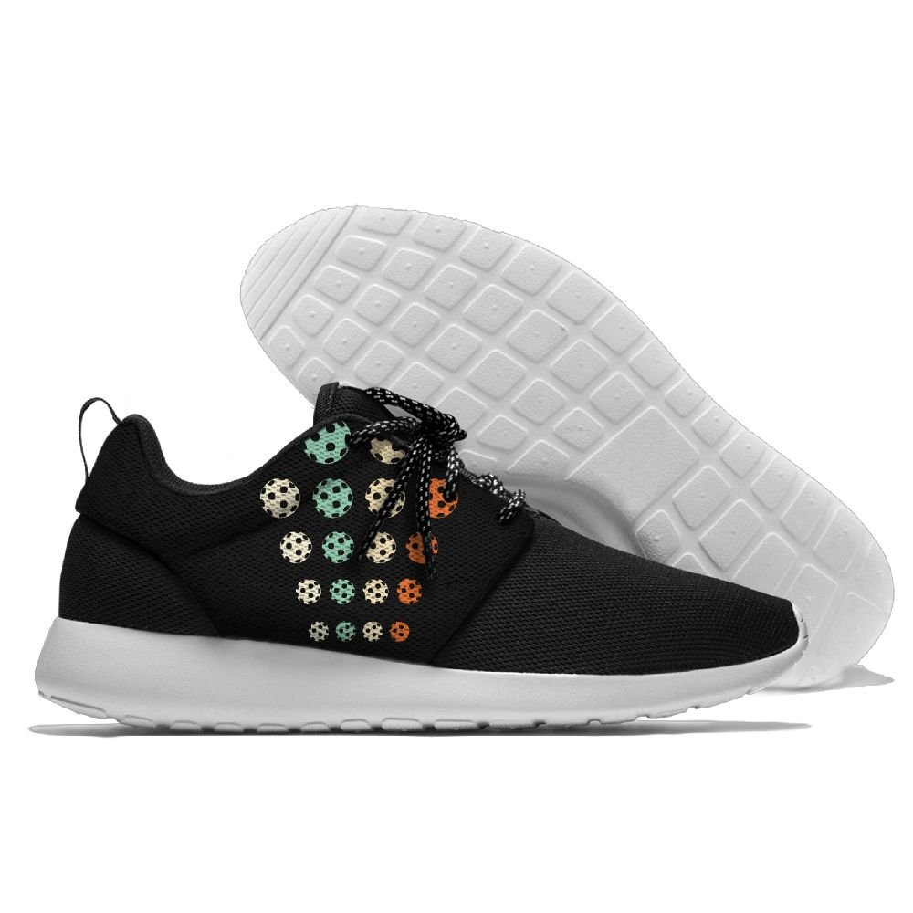 Vintage Pickleball Colorful Womens Mens Running Shoe Casual Sports Shoes Fashion Sneakers B0793JK9JN 45|Black