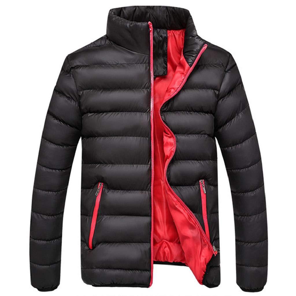VICGREY ❤ Cappotto da Uomo Inverno, Piumino Giubbotto Stand Colletto Giacchetta Giacca Manica Lunga Felpa Uomo Elegante Caldo Invernale Cappotto Outwear Cappotti WFF80918656