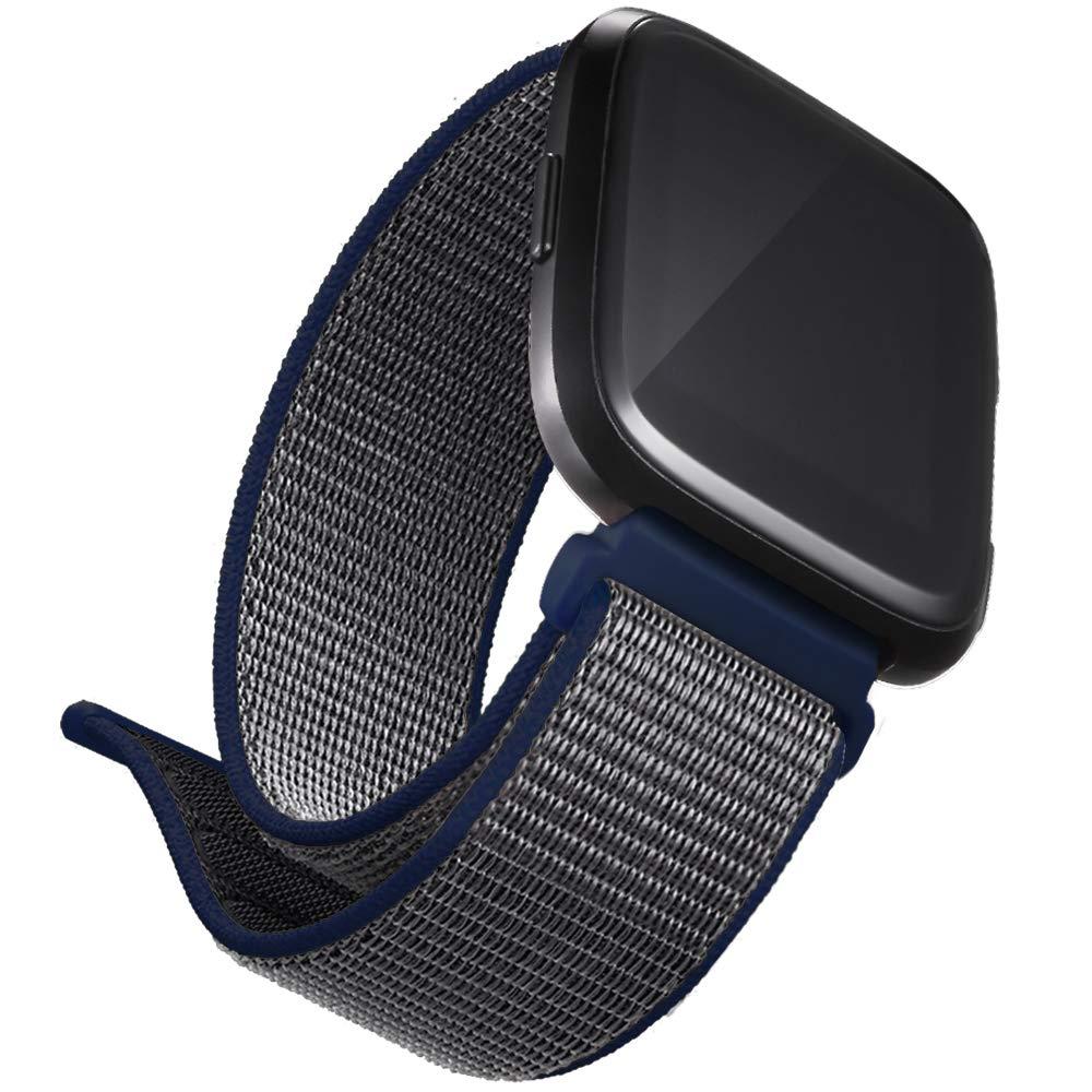 dizywiee for Fitbit Versaナイロンバンド、通気性ナイロンループ交換用バンドfor Fitbit Versa Smart Fitness Watch B07CT2D6R5 03.Loop Blue