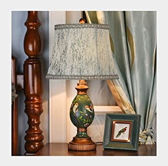 1. Lámpara de mesa Lámpara de mesita de noche pintada a mano