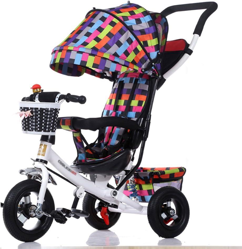 Triciclos Infantil Plegable Preescolar 3 en 1 Carrito de bebé Bicicleta 1-3-5 Años Bicicleta Infantil Cochecito de bebé