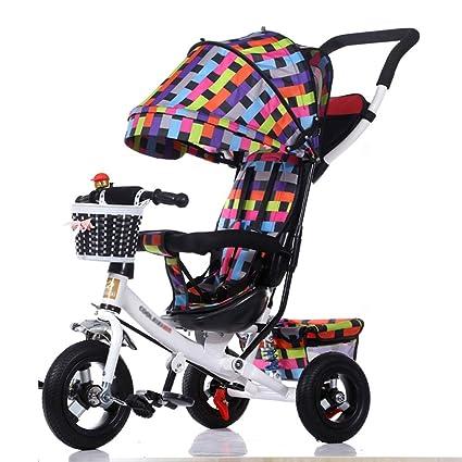Triciclos Infantil Plegable Preescolar 3 en 1 Carrito de bebé Bicicleta 1-3-5