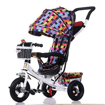 Triciclos Infantil Plegable Preescolar 3 en 1 Carrito de bebé Bicicleta 1-3-5 Años Bicicleta Infantil Cochecito de bebé: Amazon.es: Hogar