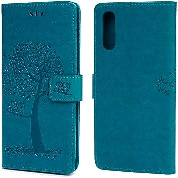 MUSESHOP Funda para Samsung Galaxy A70, Estuche de Cuero Estampado Búho y Árbol Libro de Cuero con Tapa y Cartera, Carcasa PU Leather con TPU Silicona Case Interna Suave: Amazon.es: Electrónica