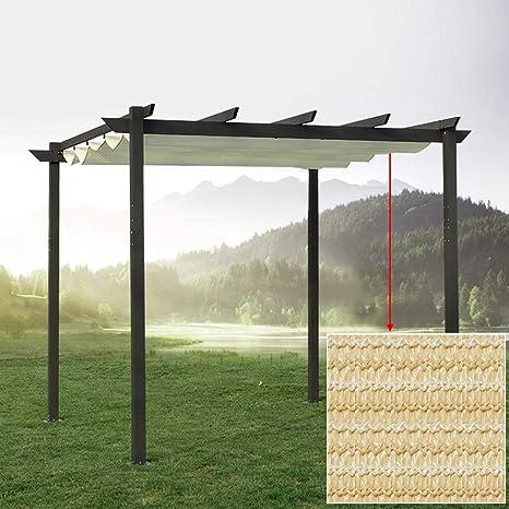 Sombrilla Extensible Reemplace El Techo, para Pérgola, Cuerda De Alambre Pista De Taxi Polietileno Transpirable Anti-UV Hidrofóbico Jardín, Cubierta, Pabellón (Color : Beige, Size : 0.9x6m): Amazon.es: Hogar