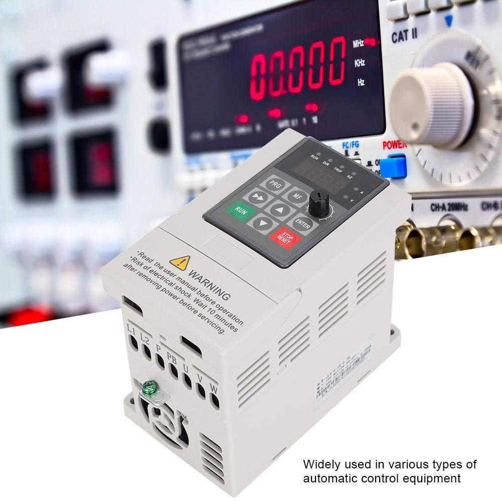 Frequency Converter 110V 0.75KW 7A Single Phase Input 3 Phase Output VFD Frequency Inverter Converter PAM Control for Various Types of Automatic Control Equipment