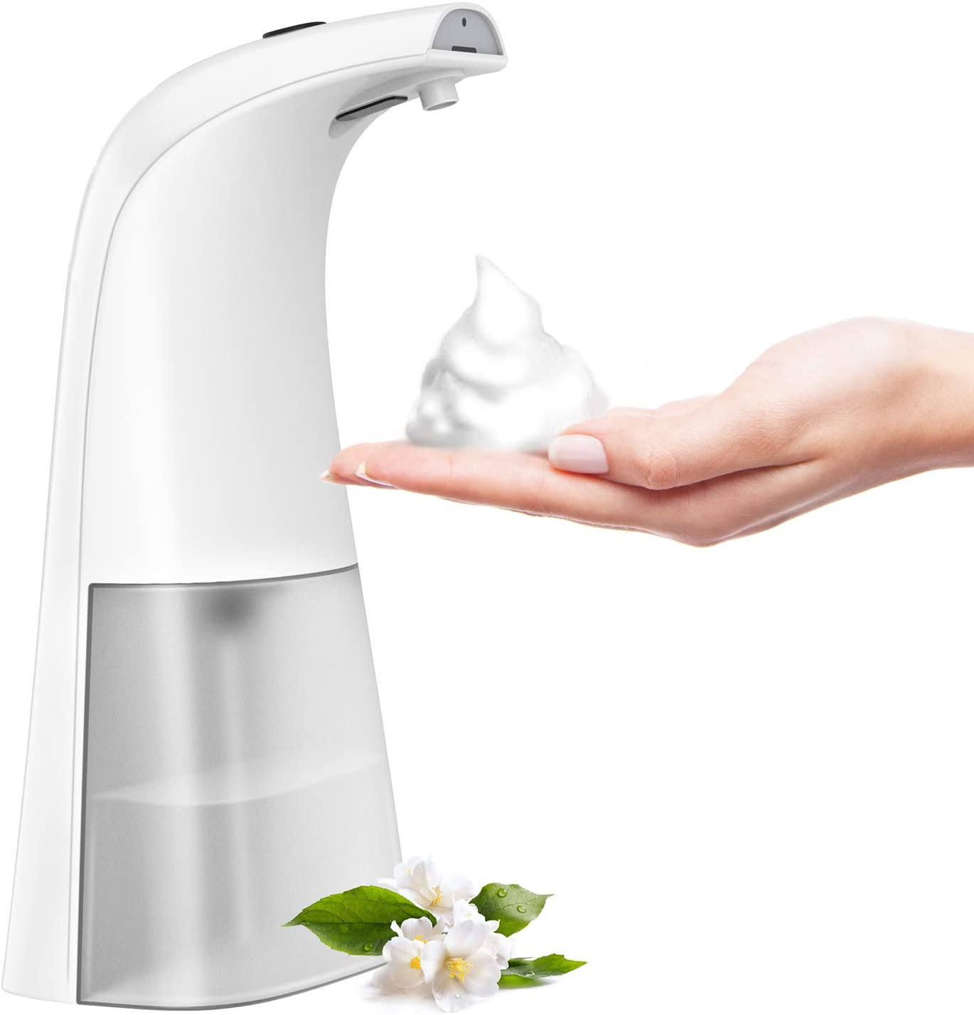 HOMLEX Automatic Soap Dispenser,Touchless Soap Dispenser Touchless,Dual Foam Modes for Adults and Kids White+Clear
