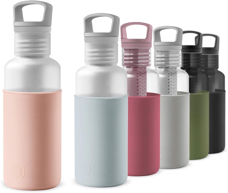 HYDY Tritan Botella de Agua de 20 onzas, sin BPA, con infusor de té