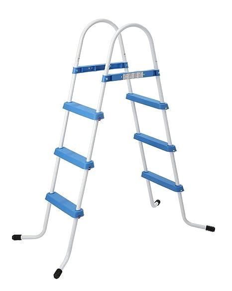 JILONG Escalera de piscina de 2 peldaños para piscina de prompt por encima del suelo hasta