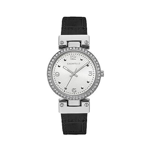 Amazon.com: Caravelle reloj mujer de cuarzo, Acero ...